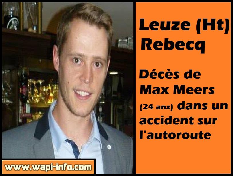 Max Meers deces autoroute