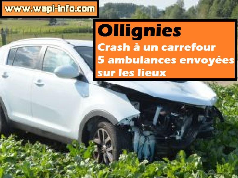 Ollignies crash carrefour
