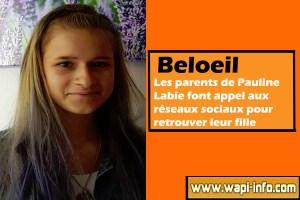 Beloeil : les parents de Pauline Labie sont à sa recherche