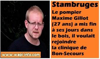 Stambruges : le pompier Maxime Gillot (27 ans) retrouvé mort dans le bois, il voulait rejoindre la clinique de Bon-Secours