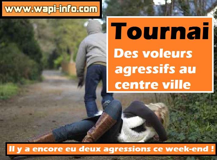 Tournai agressions centre ville