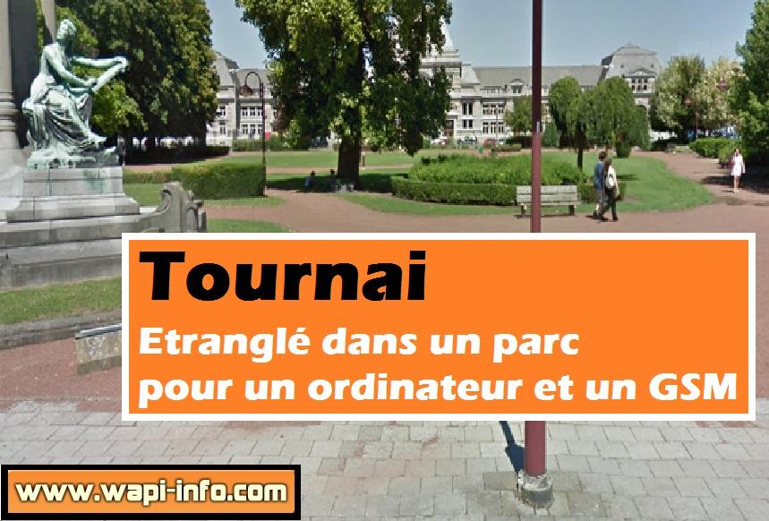 Tournai vol parc etrangle