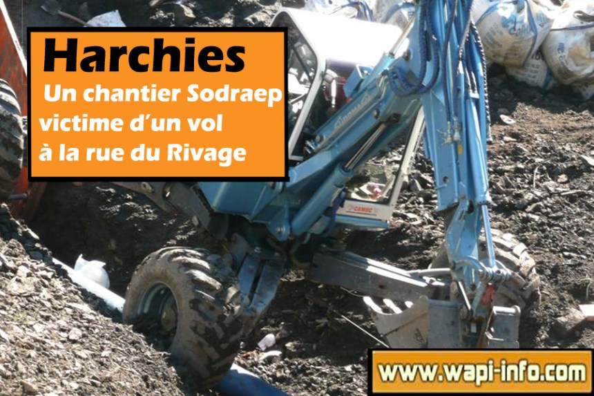 harchies vol chantier