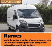 Rumes : vol à la voiture bélier d'une station essence - les voleurs découpent à la disqueuse la barrière «anti vol bélier»
