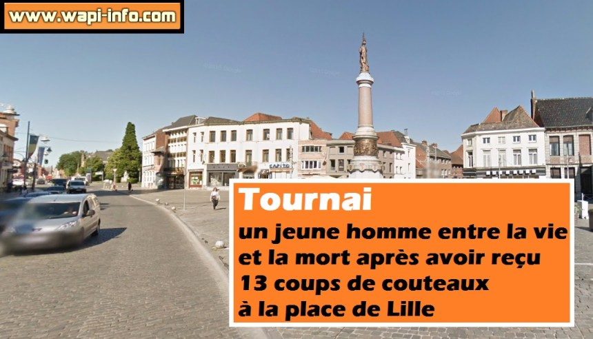 tournai place lille agression couteau