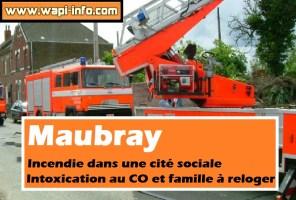 Maubray : incendie dans une cité sociale - intoxication au CO et famille à reloger