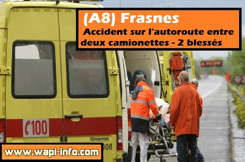 accident autoroute frasnes