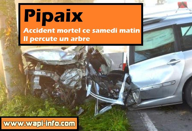 accident mortel pipaix samedi 26 septembre