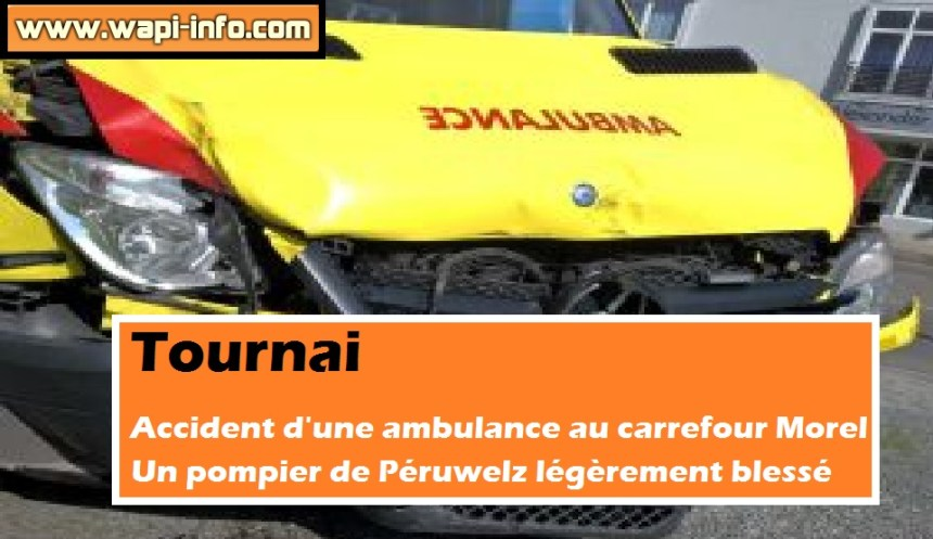 ambulance pompier peruwelz accident