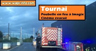 Tournai : poubelle en feu à Imagix - cinéma evacué