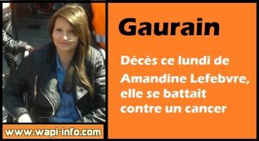 Gaurain : décès de Amandine Lefebvre, elle se battait contre un cancer