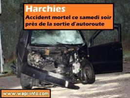 Harchies : accident mortel ce samedi soir près de la sortie d'autoroute