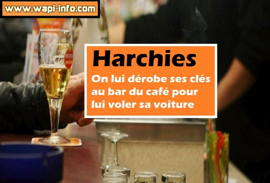 Harchies cafe vol cles
