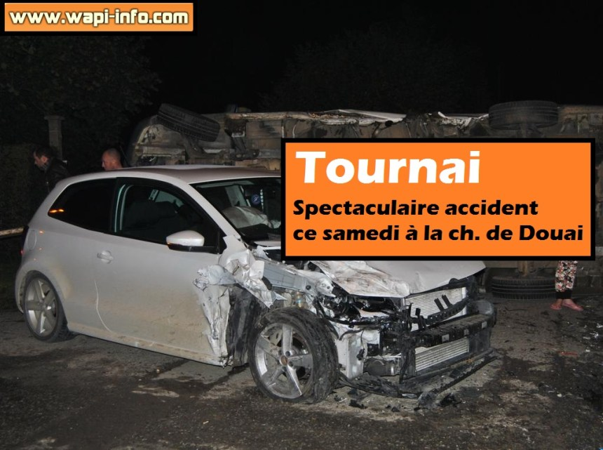 Tournai accident spectaculaire