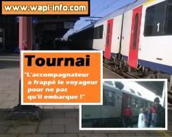 """Tournai : """"l'accompagnateur a frappé le voyageur pour ne pas qu'il embarque !"""""""