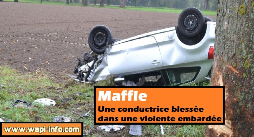 maffle conductrice blessee