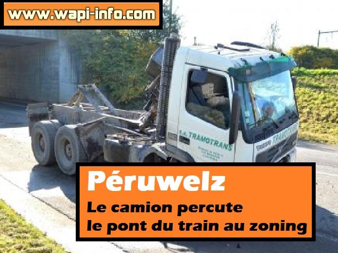 peruwelz camion percute