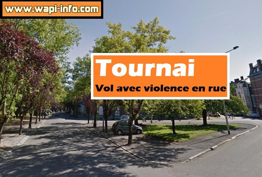 Tournai vol violence en rue