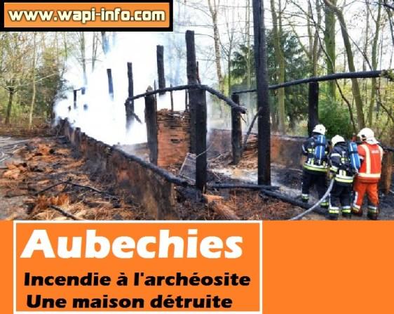 aubechies incendie archeosite