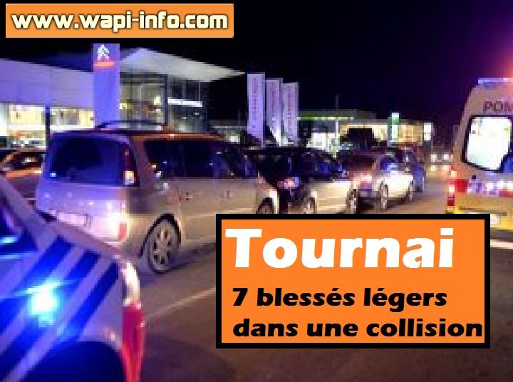 Tournai accident blessés légers collision