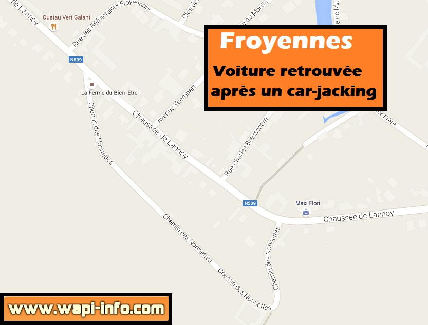 froyennes car jacking voiture retrouvee