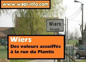 Wiers : des voleurs assoiffés à la rue du Plantis