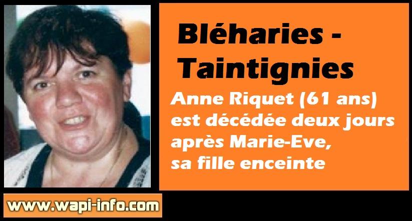 Anne Riquet maman marie eve savigny