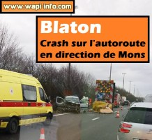 Blaton : crash sur l'autoroute en direction de Mons