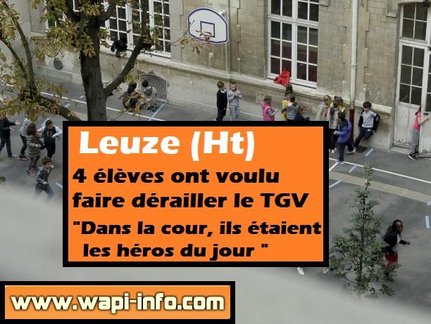 Leuze derailler TGV St Francois