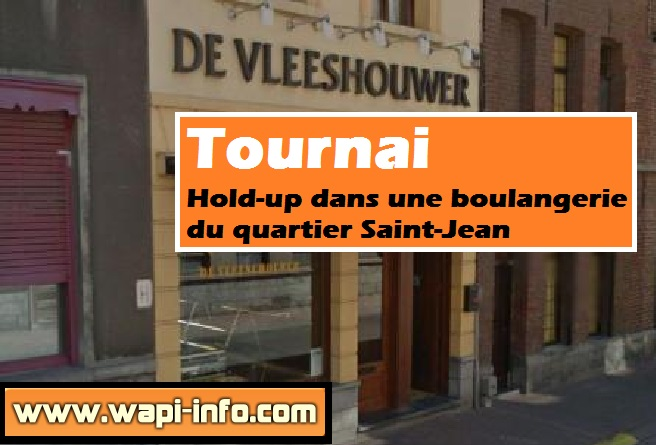 Tournai hold up boulangerie