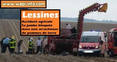 Lessines : accident agricole - sa jambe bloquée dans une arracheuse de pommes de terre