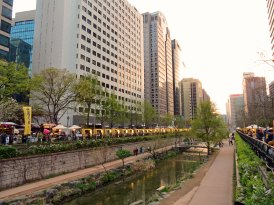 South Korea - Seoul - Cheonggycheon river walk