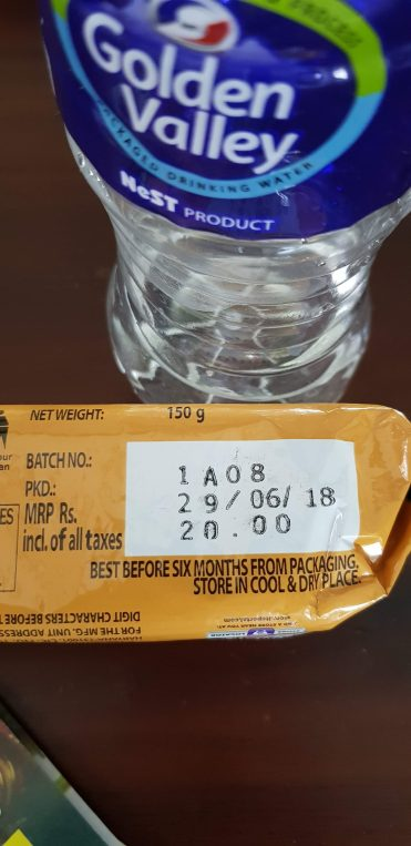 Price indication on cookies (India)