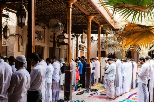 Dubai souks friday prayer