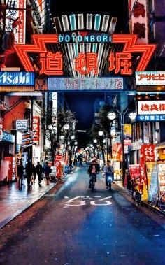 Osaka Namba Dotonbori at night