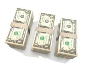 3 money bundles