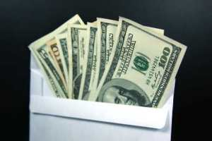 money in anvelope