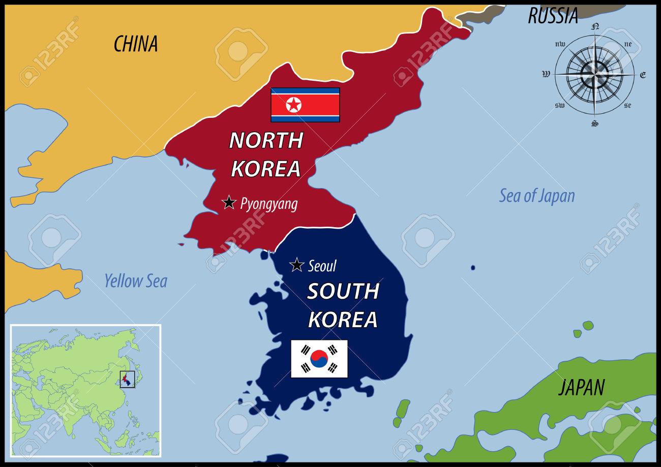 Korea World Map North Pyongyang