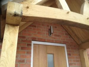 PIR controlled external spotlight on a new build.