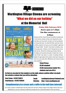 Wardington Village Cinema What we did on our holiday Poster A4 (2)