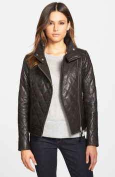 Mackage Quilted Leather Moto Jacket CAD 625.77 Nordstrom.com