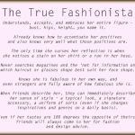 True Fashionista: A Series and a Source of Inspiration