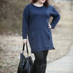 What I Wore: Navy and Black