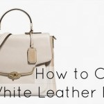Ask Allie: How to Clean a White or Light Leather Bag