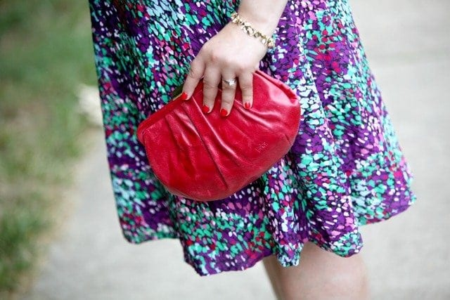 hobo bag red leather clutch