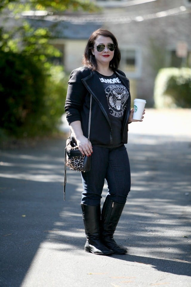 Wardrobe Oxygen What I Wore Weekend Mom Style featuring Ramones Tee and NYDJ