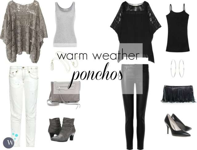 how to style ponchos for warmer weather