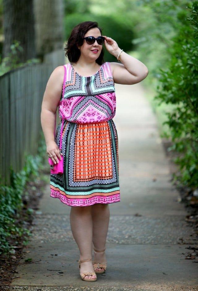 Wardrobe Oxygen in a Hemant & Nandita dress from Gwynnie Bee