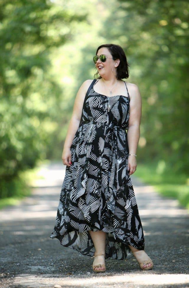 wardrobe oxygen in a gwynnie bee maxi dress