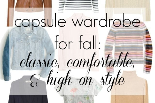 capsule wardrobe for fall - classic comfortable and high on style by wardrobe oxygen